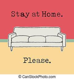 sugerencia, hogar, estancia, apacible