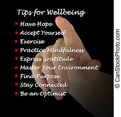 sugestões, wellbeing