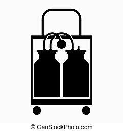 sugning, aspirator, elektrisk, kirurgisk, pump, medicinsk