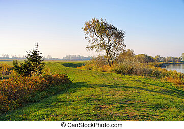Suhrendorf on island Ummanz in Germany in autumn