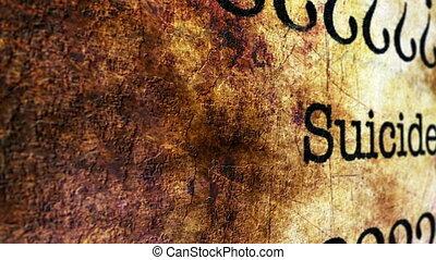 suicide, concept, grunge