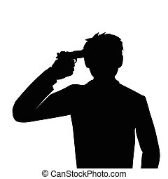 suicide, headshot