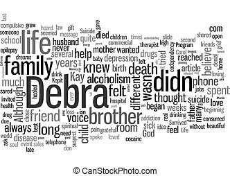Suicide In Memory text background wordcloud concept