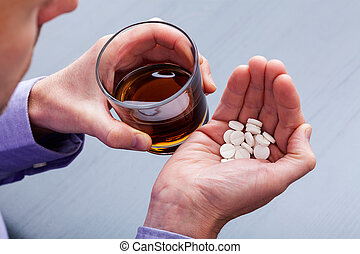 suicidio, con, aguardiente, y, píldoras