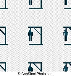 suicidio, concepto, icono, signo., seamless, patrón, con, geométrico, texture., vector