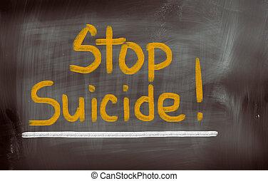 suicidio, concepto, parada