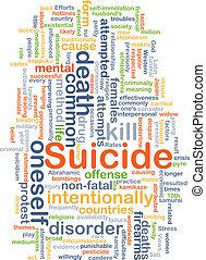 suicidio, concepto, plano de fondo