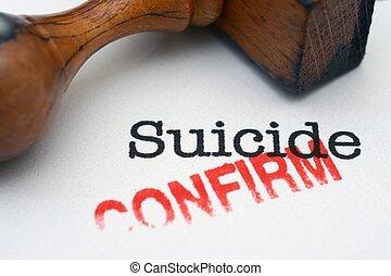 suicidio, confirmar
