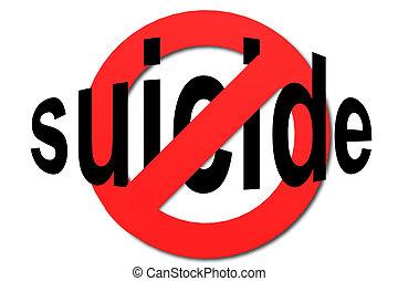 suicidio, parada, rojo, señal