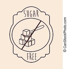 suiker, product, kosteloos