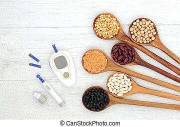 suiker, uitrusting, gi, testen, laag, voedingsmiddelen, bloed
