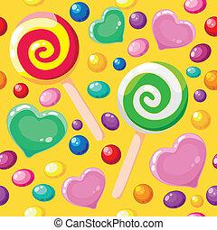 suikergoed, model, seamless, schattig