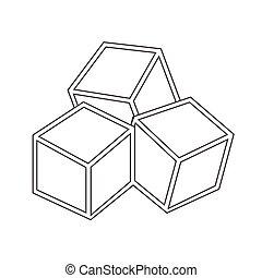 suikerklontjes, pictogram