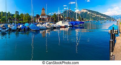 suisse, église, spiez, château