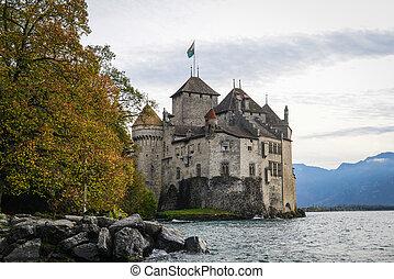 suisse, château, genève
