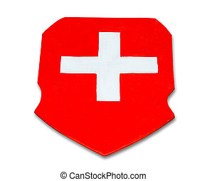 suisse, fond, bois, isolé, drapeau, blanc