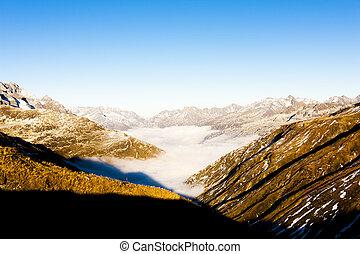 suisse, furkapass, vue, graubunden, canton