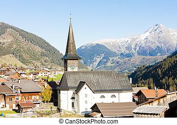 suisse, graubunden, rueras, canton