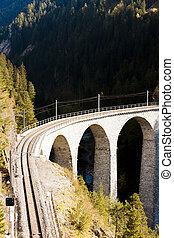 suisse, landwasserviadukt, graubunden, canton