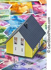 suisse, maison, financement, francs