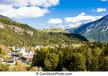 suisse, surava, graubunden, canton