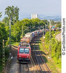 suisse, train, allemagne, fret