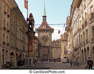 suisse, zeitglockenturm, berne