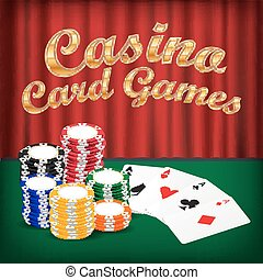 suit card games with pile of casino chip