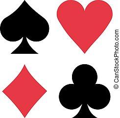 Suit cards spades hearts diamonds clubs