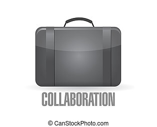 suit case with the word collaboration.