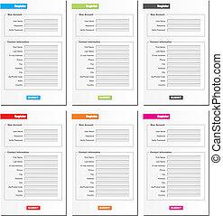 register form - suitable for register form