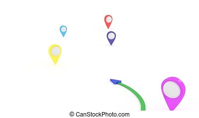 suitable, route., way., recherche, court, coordinates., gps
