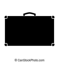 Suitcase black color icon .