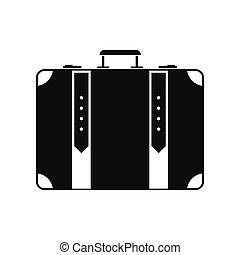 Suitcase black simple icon