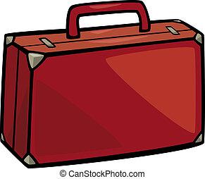 suitcase clip art cartoon illustration