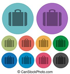 Suitcase color darker flat icons