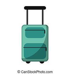 suitcase equipment travel icon