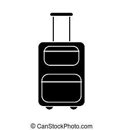 suitcase equipment travel pictogram