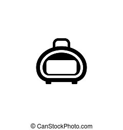 Suitcase for Animals Flat Vector Icon