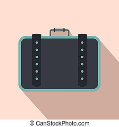 Suitcase for travalling flat icon