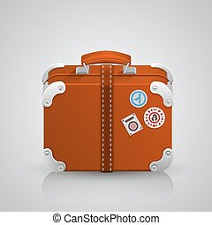 Suitcase for travel. Vector