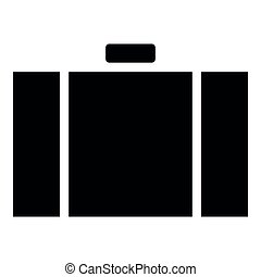 Suitcase icon black color illustration flat style simple image