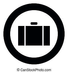 Suitcase icon black color vector illustration simple image