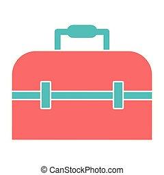 suitcase icon cartoon