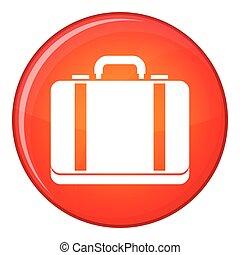Suitcase icon, flat style