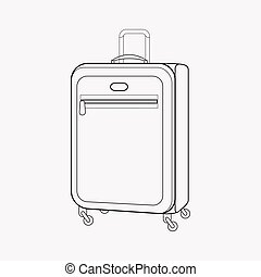 Suitcase icon line element. Vector illustration of suitcase icon line isolated on clean background for your web mobile app logo design.