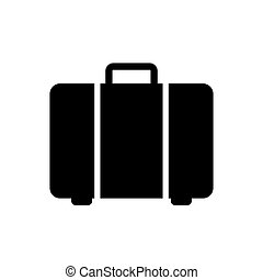 Suitcase icon vector for graphic design, logo, web site, social media, mobile app, ui illustration