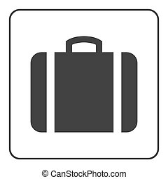 Suitcase icon white