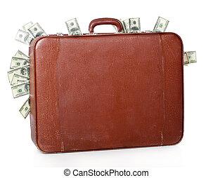 suitcase is full of money