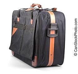 Suitcase isolated on white background - Black suitcase ...